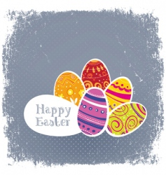 Easter eggs vintage background vector image