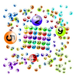 lottery balls brushes vector image