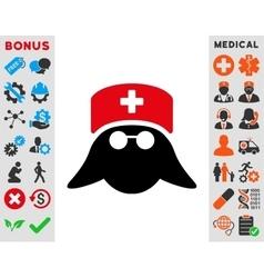 Medical Nurse Head Icon vector image