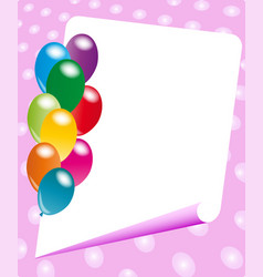 party invitation frame vector image vector image