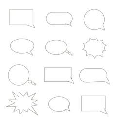 set of speech bubbles chat bubbles black line vector image vector image