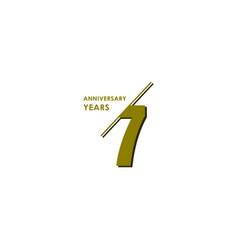 7 years anniversary celebration template design vector image