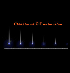A set of create christmas animations a falling vector