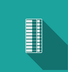abacus icon isolated with long shadow vector image