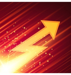 Abstract background with glowing arrow vector image