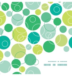 Abstract green circles frame corner pattern vector