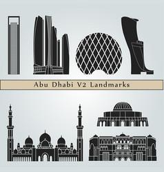 Abu dhabi v2 landmarks vector