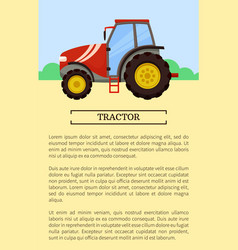 Agricultural machinery icon cartoon banner vector
