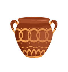 antique greek vase with handles decorated vector image