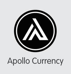 apl - apollo currency the icon of coin or market vector image