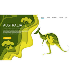 australia website landing page template vector image