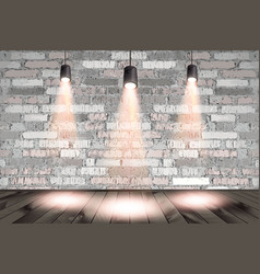 Background image dark wall with light spot vector