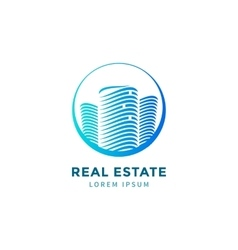 Blue real estate vector