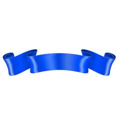 Blue silk ribbon vector