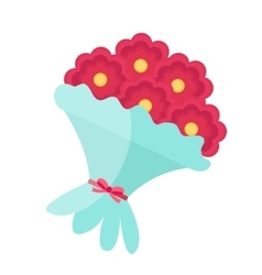 Bouquet of flowers icon flat design Isolated on vector image
