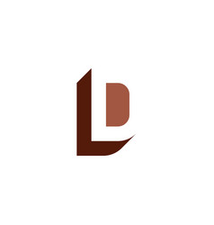 Brown letter l and d ld logo icon element vector