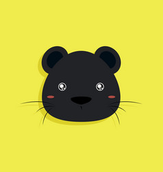 Cartoon panther face vector
