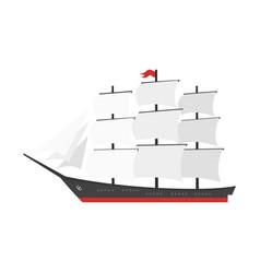 Cartoon style ship vector