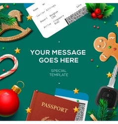 Christmas and New Year winter vacations holidays vector