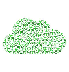 cloud composition of ecology man icons vector image