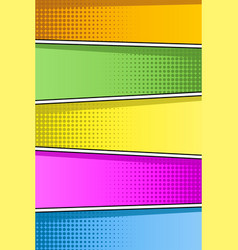 Colorful pop art retro background comic style vector