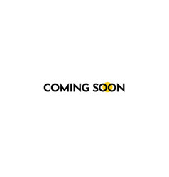 Coming soon text label template design vector