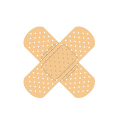 Crossed plaster icon vector