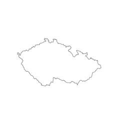 czech republic map outline vector image