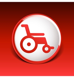 disabled icon sign wheelchair handicap symbol vector image vector image