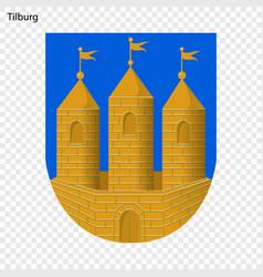 Emblem of tilburg vector