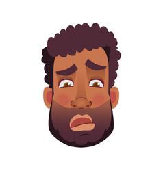 Face african man vector