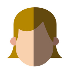 Faceless head girl female people image vector
