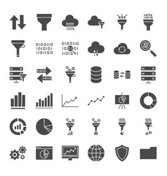 Filter solid web icons vector