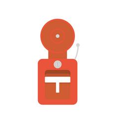 fire alarm flat style icon vector image