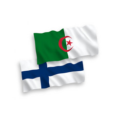 flags finland and algeria on a white background vector image