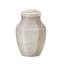 funerary urn for cremation ceremony object icon vector image