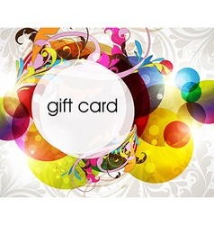 Funky Gift Card Design vector