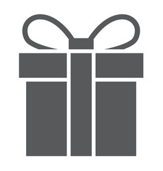 gift box glyph icon christmas and package vector image
