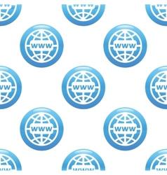 Global network sign pattern vector image