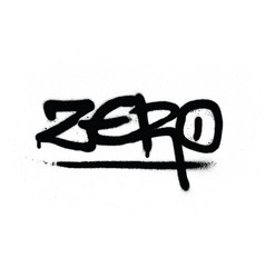 graffiti zero tag in black over white vector image