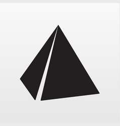 gray pyramids icon isolated on background modern vector image