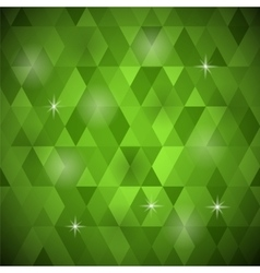 Green geometric retro mosaic pattern vector