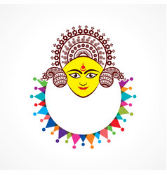 Happy navratri greeting stock vector