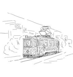 Historic tram vector