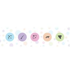 Hunter icons vector