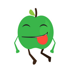 isolated happy apple emote vector image