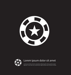 isolated star icon chip element can b vector image