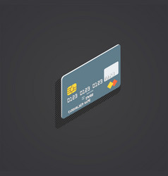 Isometric plastic bank card vector