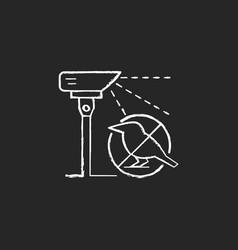 Laser scarecrows chalk white icon on dark vector