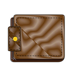 Leather wallet symbol vector